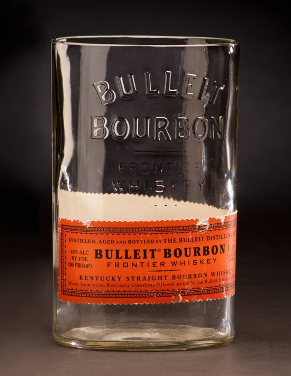 Bulleit Bourbon Frontier Whiskey Bottle Vase