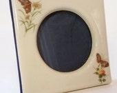 Takahashi San Francisco Butterfly Picture Frame / Porcelain frame / Japan