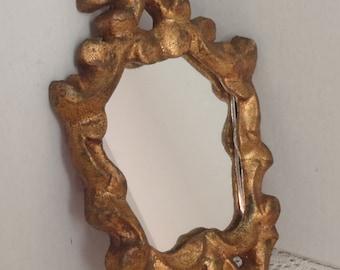 Vintage Mirror Italian Florentine Carved Tole