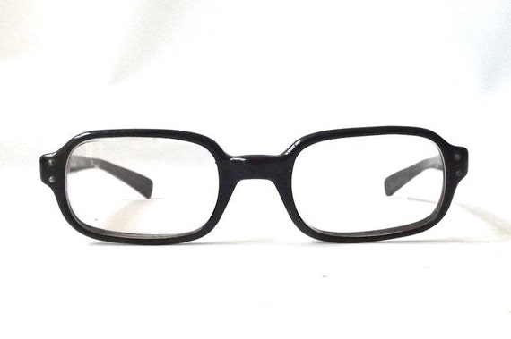 vintage 1950 s bausch and lomb horn eyeglasses black