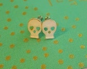 Bohemian Day of The Dead Skull Plugs Gauges 10g , 8g t363