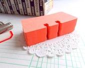 Vintage Orange Rolodex Cards / Daily Panner / Junk Journal / Vintage Office / Office Ephemera