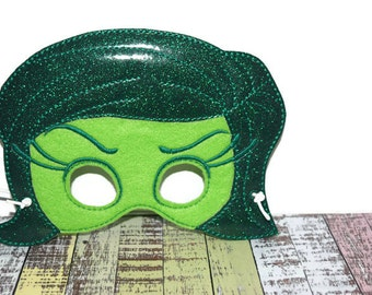 Disgust Girl | Emotions | Felt Mask | Halloween Costume | Child Mask | Dress Up | Reusable and Eco Friendly | Pretend Play | Party Favor