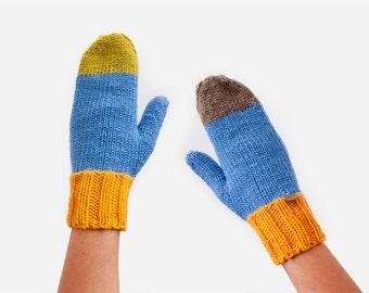 Knitted Mittens. Wool Mittens. Ladies Mittens. Winter gloves. Mitts