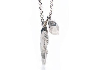 Rugged Sterling Glacial Charm Necklace