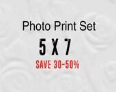5x7 Prints, Set of 4 Photos, 5x7 Print Set, Prints 5x7  (Save up to 50%)