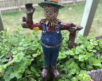 Miniature Scarecrow, Fairy Garden Accessory, Miniature Gardening, Garden Decor, Topper, Scarecrow with Pick
