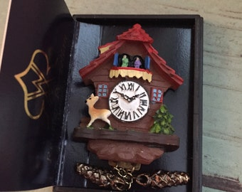 Dollhouse Miniature German Cuckoo Clock by Reutter 1:12 Scale