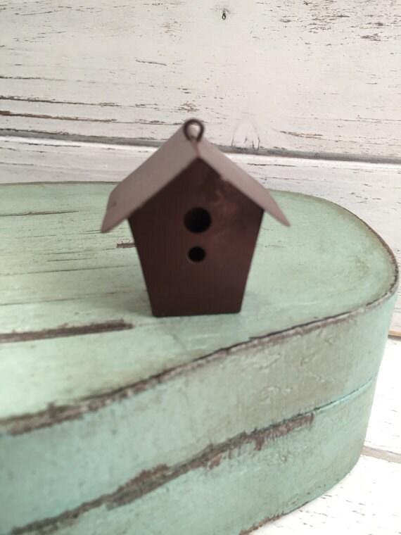 Mini Metal Rustic Birdhouse Fairy Garden Primitives Miniature Garden Accessory
