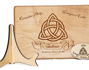 Trinity Knot Cutting Board, Celtic Symbol, Irish Wedding Gift, St Patricku0027s  Day Decor