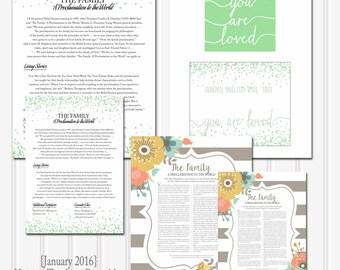 January 2016 LDS Visiting Teaching Message Printables-LDS-Mormon