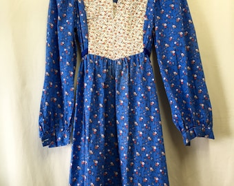 70's Quilted Floral Dress