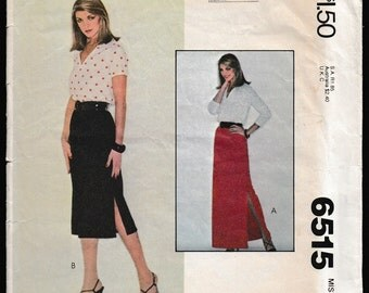 McCall's 6515 Carefree™  Patterns from McCall's, From a Norman Simon Inc. Company, Misses Skirt in Two Lengths 90 minute Fashion™
