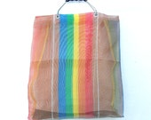 Vintage Market Bag - Rainbow Shopper