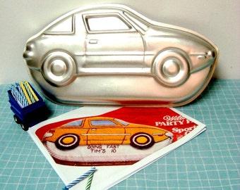 Sports Car Cake Pan 1979 Wilton 502 1948