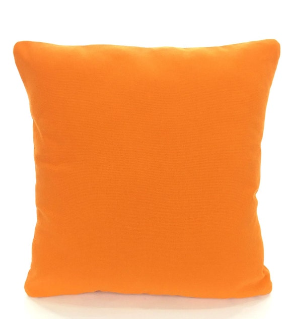 Solid Orange Pillow Cover Decorative Throw Pillow Cushion