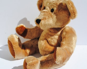 SUPER SOFT Plush Stuffed Teddy Bear - Teddy Bears, Bears, Stuffed Animals, Children's Toys, Stuffed Bears, Blonde, Vintage Toys