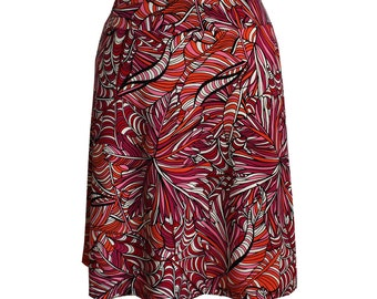 "Travel Skirt in Funky Bright Zendoodle Print, ""Quizzical"" Skirt"