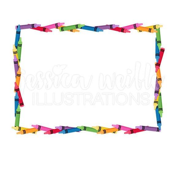 crayon frame clip art cute digital clipart crayon clip