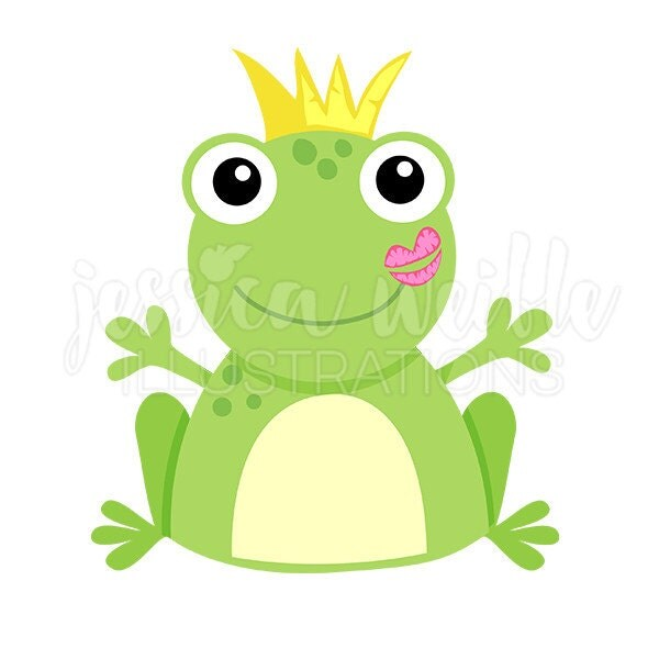 Frog prince clipart | Etsy