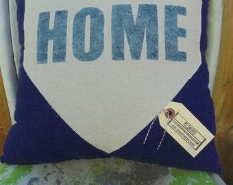 Blue Home Plate Pillow