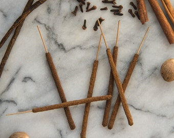 Vanilla Spice - All Natural Hand Rolled Incense Sticks - Bag of 6 or 12