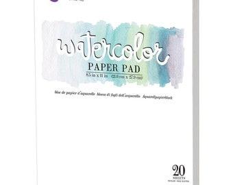 "Prima Watercolor Paper Pad 8.5"" x 11""  High Quality  Artist Grade 20 Sheets"