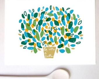 La vita è bella, Italian Kitchen Art Print / high quality fine art print
