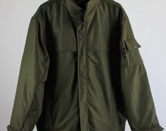 SALE - Vintage Military Style Army Green Water Resistant Weatherproof Fall Winter Jacket Coat - Winter Sports - Mens Size Large