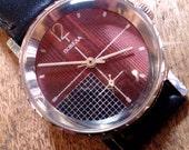 Mens watch men watch Pobeda Zim, men's watches, mechanical watch, brown watch
