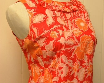 1960s Pink/Orange Floral Lilly Pulitzer Dress