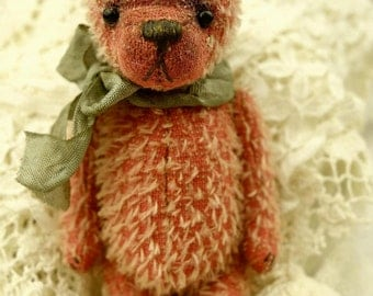 "Pinkie, 5"" Miniature Mohair Artist Teddy Bear from Aerlinn Bears"