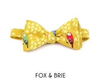 Golden Bird Bow Tie