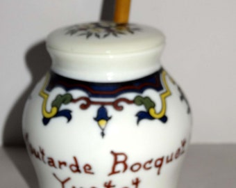 From France Mustard Jar Plastic Spoon Included Home and Garden Kitchenware Storage Container Mustard Jar