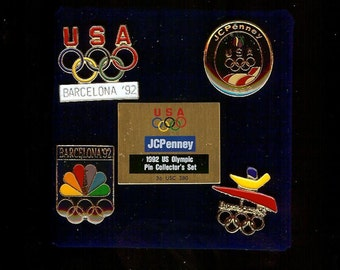 Clearance NEW 1992 JC PENNEY U.S. Olympic Pin Collector's Set in the Original Box Barcelona Spain