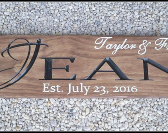 Last Name Signs, Custom Wood Signs, Carved Wood Signs, Wedding Signs, Name Sign, Family Name Signs, Personalized Signs, Wedding Signs
