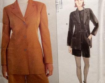 Vintage Vogue Paris Original Designer Pattern State of Claude Montana Jacket & Shorts 1995 Uncut Size 14-18