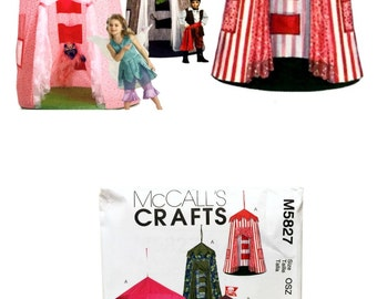 McCall's Crafts M5827 Sewing Pattern, Kids Play Canopy Pattern, Kids Play Fort Pattern, Girls Play Canopy, Boys Play Canopy, Pirate Canopy