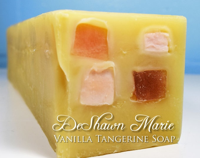 SOAP - 3 lb. Vanilla Tangerine Handmade Soap Loaf, Wholesale Soap Loaves, Vegan Soap, Cold Processed Soap, Natural Soap, FREE SHIPPING