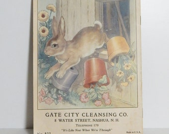 Vintage Book 1939 Peter Rabbit Children's Book Promotional Ephemera Vintage Paper Easter Spring Flowers Shabby Chic Cottage