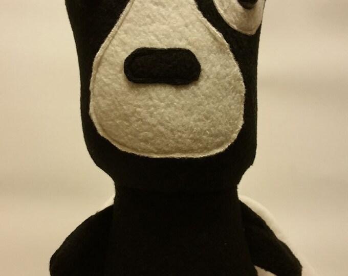 Black PitBull/Boston Teirrier Plush Toy