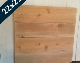 Blank Wood Sign - Pallet Style Signs - Make Your Own Sign - Raw Cedar Sign - Blank Sign - DIY unfinished Sign - 22x22