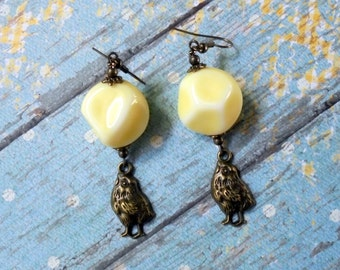 Pastel Yellow Chick Earrings (2474)