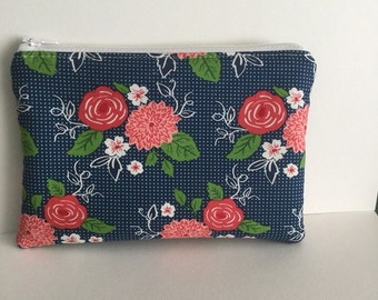 Zip pouch, cosmetic purse, makeup pouch
