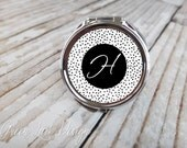 Personalized Bridesmaid Compact Mirror - Speckled Dot