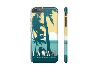 HAWAII iPhone Case, Tropical iPhone 7 Case, iPhone SE Cover, Samsung Galaxy Case, iPhone 6 Plus, Tropical Phone Cover, Hawaiian Palm Trees.