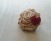 Country Love rosette hair clip and brooch pin, Twisted Rose Accessory, Valentine