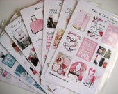 18 Full Box Glam Stickers MP08 Glam Vanity Collection I Fashion & Makeup Planner Stickers fit Mambi Happy Planner, Erin Condren, Midori, etc