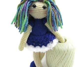 Ballerina Doll - Fantasy Doll - Keepsake Art Doll Crochet - Customized Dolls - My Crochet Doll - Collector Dolls - Handmade Doll - OOAK Doll