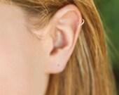 Buy 3, Get 4th FREE - Tiny Seamless Hoop Cartilage Earring, Argentium Silver, Gold, Niobium, Titanioum, Cartilage Hoop